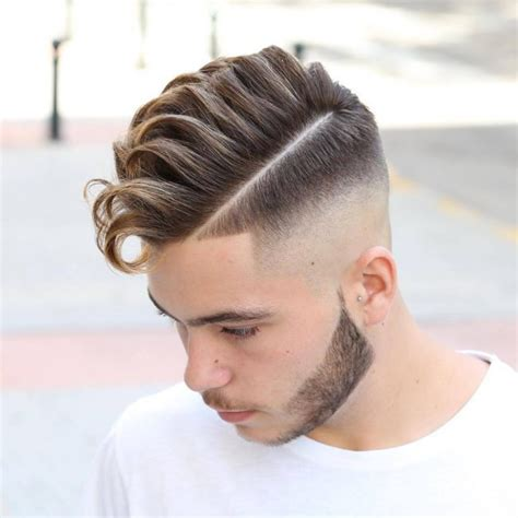pompadour with hard part 30 imaginative medium fade haircuts classic and trendy