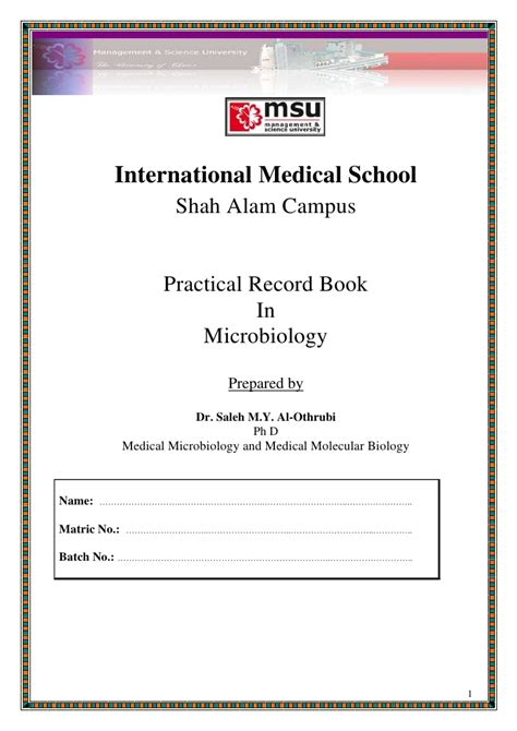 microbiology lab report template microbiology lab report 1 format