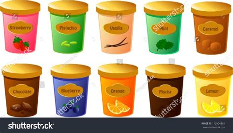 vector illustration various tubs stock vector
