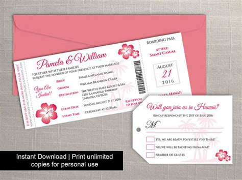 luggage tag invitation template diy printable wedding boarding pass luggage tag template