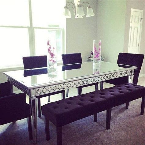 Purple Kitchen Table Casa Comedor Comedores Dinning Rooms This Benches And Purple