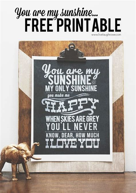 full version you are my sunshine you are my sunshine printable live laugh rowe