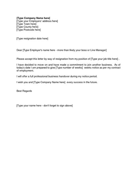 letter of resignation 2 weeks notice template resume builder