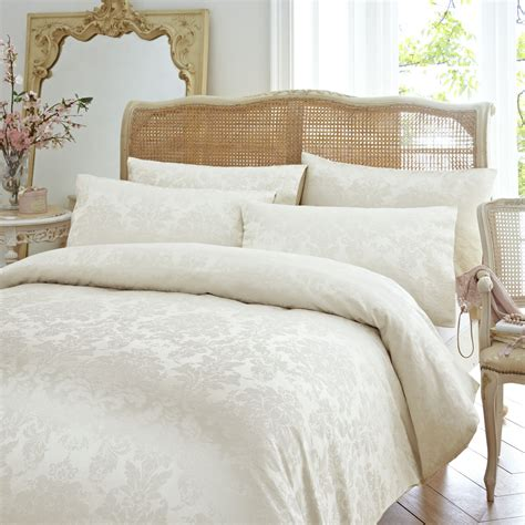 cream coverlet vantona distressed damask duvet cover sets cream