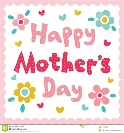 s day in happy mothers day card stock photo image 36422600