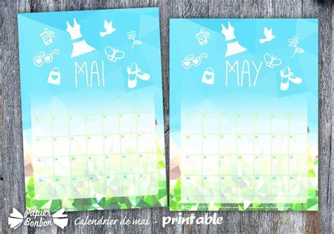 Calendrier Mai 2015 Calendrier De Mai 2015 Printable Papier Bonbon