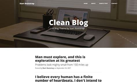 clean blog bootstrap blog theme start bootstrap 12 best free bootstrap blog templates for 2018 on air code
