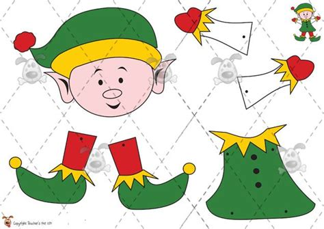 printable elf activities pin by darlene ortiz on christmas crafts pinterest