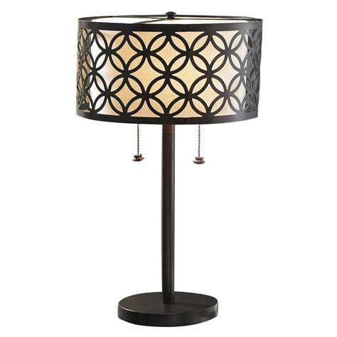 Metal Table Lamp Allen Roth Paisley 25 In Oil Rubbed Bronze Table Lamp