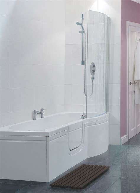 p shaped bathtub smarter bathing buttermere walk in p shaped bath with