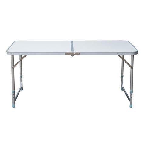 Folding Table With Handle Outsunny 48 Quot Aluminum Cing Folding C Table W