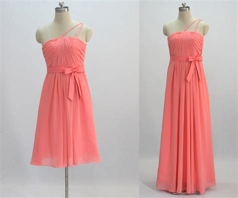 Coral Bridesmaid Dress by Coral Bridesmaid Dress Make To Order By 50timeless On Etsy