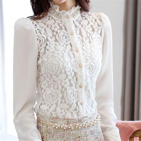 New Daun By Kero Fashion buy plaid print shirt sleeve embroidery blusa
