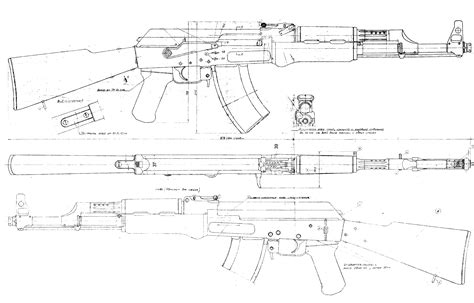 online blueprints ak 47 blueprint download free blueprint for 3d modeling