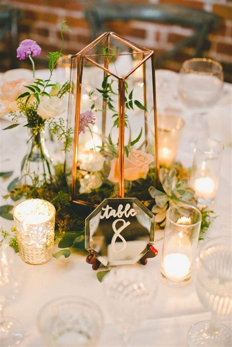 mirror centerpieces for tables gold terrarium centerpiece with mirror table numbers
