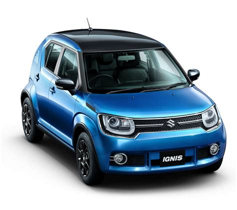 indian car maruti ignis official image front top carblogindia