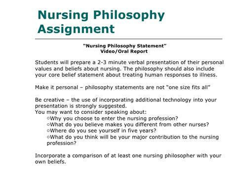 how to write a philosophy paper exle of personal nursing philosophy paper