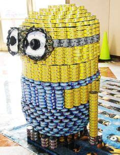 canned food sculpture ideas canned food sculptures on pinterest food drive