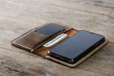 iphone x s xr xsmax leather wallet handmade free shipping