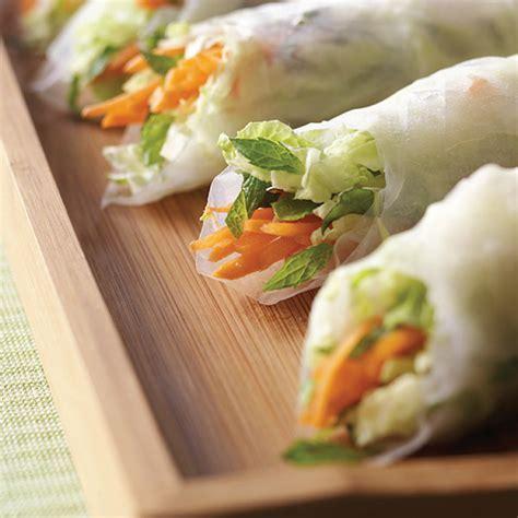 Thai Salad Spring Roll Recipe with Peanut Sauce   Hallmark