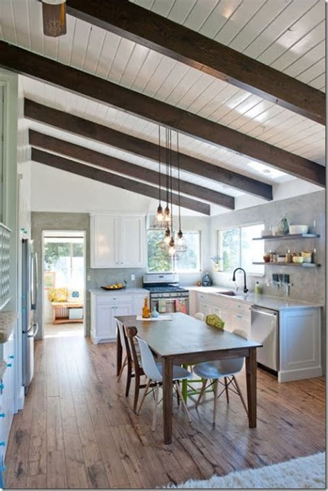 Kitchen Ceilings With Beams by Architectural Details To Add To Your Home Faux Beams