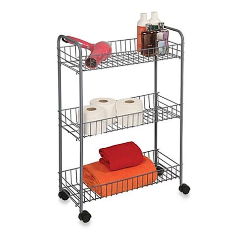 bed bath and beyond cart buy 3 tier rolling cart in white from bed bath beyond