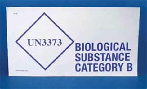 printable un3373 label therapak un3373 biological substance category b labels