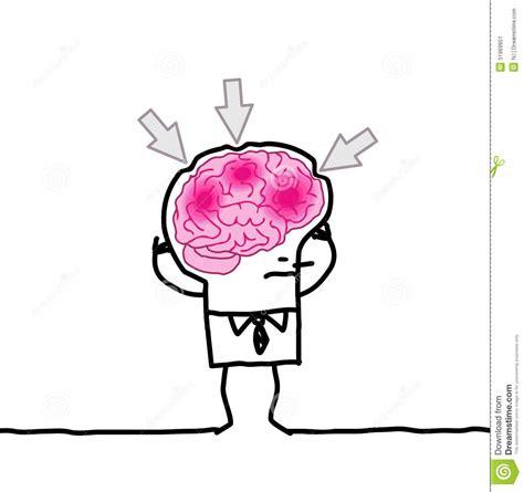 Big Brain Man Headache Stock Vector Image Of Thinking Big Brain Pricing