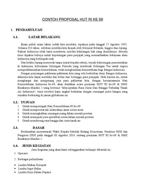 membuat proposal hut ri contoh cover proposal hut ri 71 fontoh