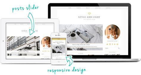 Wordpress Themes Free Luxury | style light a luxury wordpress theme by pipdig