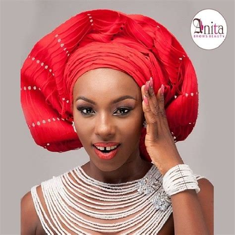 how to tie bridal head gear with aso oke 2014 youtube 46 best traditional engagement coral bead jewelry images