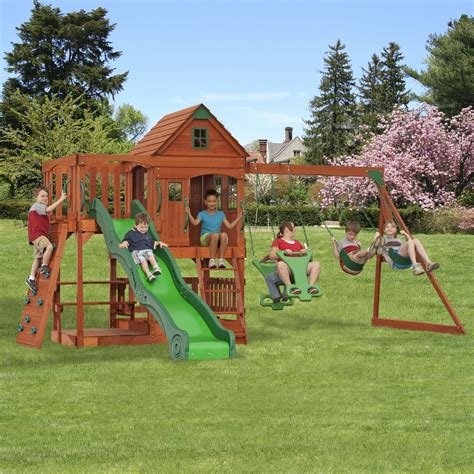 swing sets kmart backyard discovery patriot ii swing set free delivery