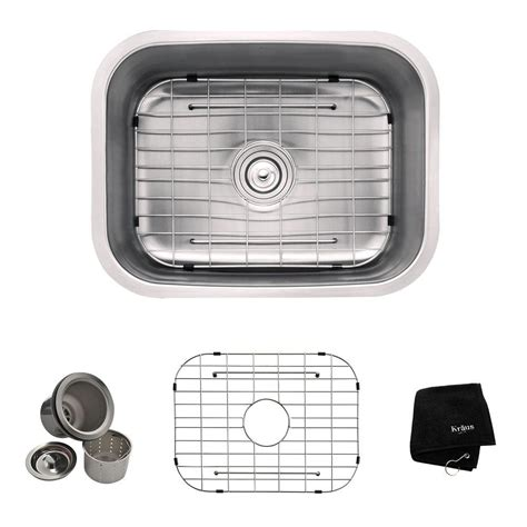 how to get rust off stainless steel sink kraus undermount stainless steel 23 in single basin