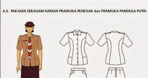 Baju Pramuka Penegak Putri No 13 pakaian seragam harian pramuka penegak dan pandega putri