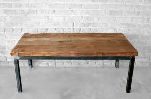 reclaimed wood and metal coffee table items similar to reclaimed wood and metal coffee table