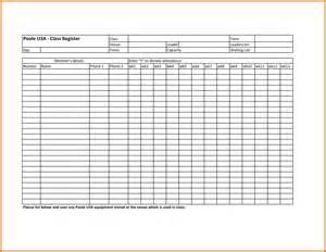 Roster List Template 10 Attendance Roster Template Attendance Sheet Download