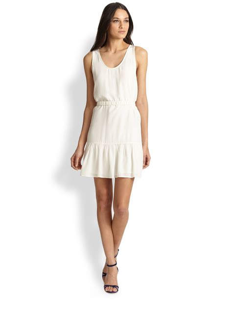 Sun Dress Ori Naura lyst joie ori silk dress in white