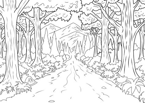 a coloring page of forest made by celine from the gallery