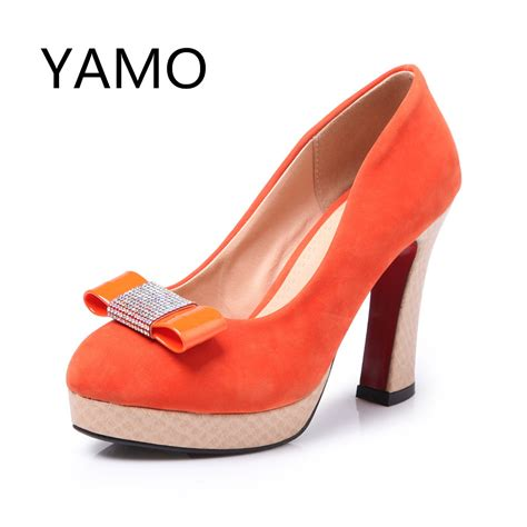 orange high heels for wedding popular pink bow heels buy cheap pink bow heels lots from