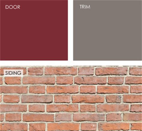 brick house cranberry for front door taos taupe for trim benjamin paints