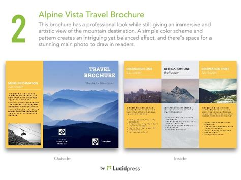 travel brochure templates free travelling trifold
