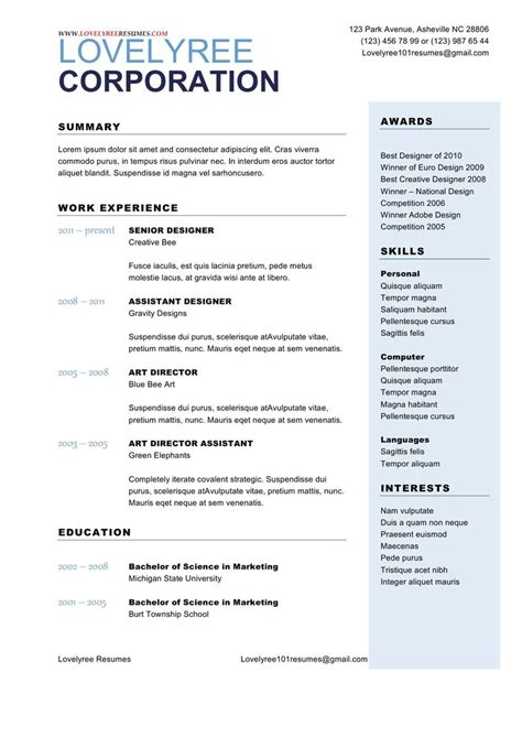 two column cover letter classic soft blue general resume with cover letter
