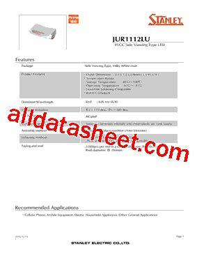 pdt stanley jur1112lu datasheet pdf stanley electric co ltd