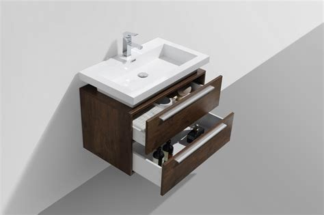 Bathroom Vanity With Vessel Sink Mount by 32 Inch Wood Finish Wall Mount Modern Bathroom Vanity