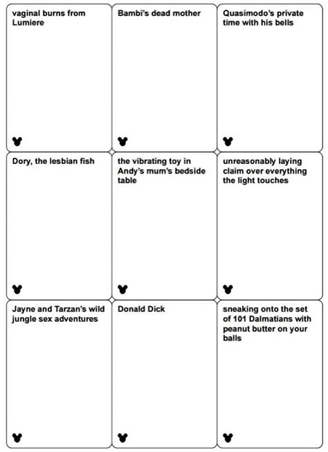 disney themed cards against humanity allegedly coming