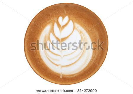 pattern latte art top view hot coffee latte cup stock photo 589780844