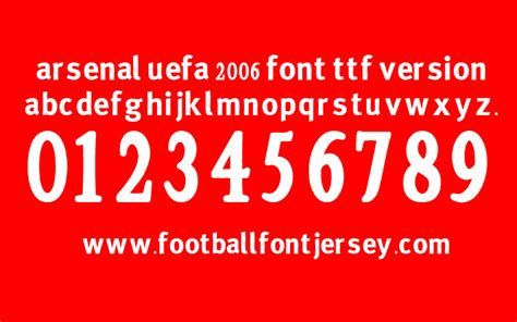 arsenal jersey font free download arsenal archives football font jersey