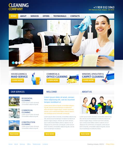 cleaning flash cms template 41389