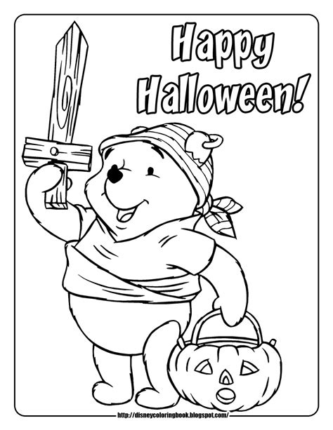 halloween coloring pages winnie the pooh pooh and friends halloween 1 free disney halloween