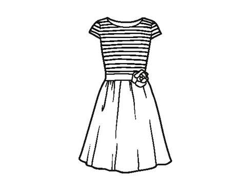como dibujar vestidos fotos dibujo de vestido casual para colorear dibujos net